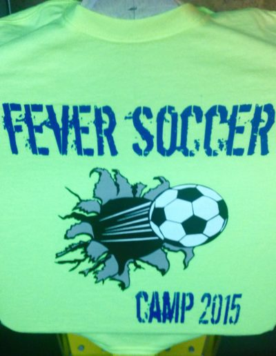 Fever Soccer Camp t-shirts
