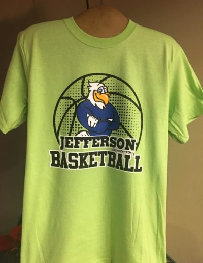 Jefferson Basketball t-shirts