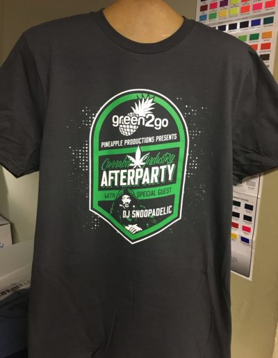 Green2Go Afterparty t-shirts