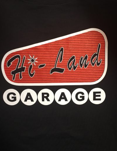Hi-Land Garage t-shirts