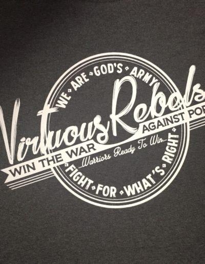 Virtuous Rebels t-shirts