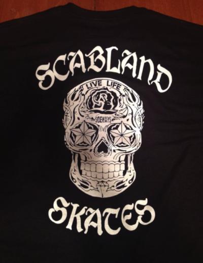 Scabland Skates skateboard t-shirts